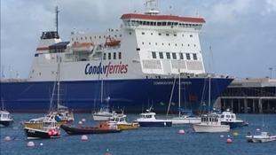 False alarm of fire on board Condor ferry