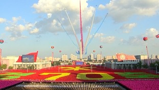 Parade in Pyongyang, North Korea