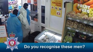 The robbers stole cigarettes and alcohol from behind the counter and took the till.