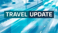 There is two miles of queuing traffic on the A38 southbound in Derbyshire at the junction with the A52