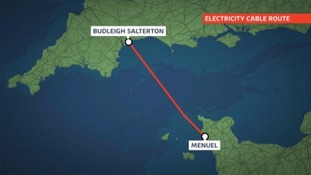 The proposed route of the controversial cable project. Credit: ITV Channel Television