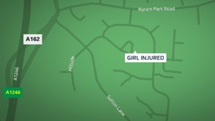 Schoolgirl, 12, seriously injured after being hit by car in North Yorkshire