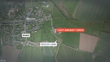 Aircraft crash map