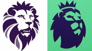 The new Ukip logo, left, and the Premier League logo.