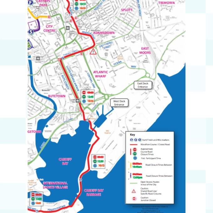 Road closures for Cardiff Half Marathon Wales ITV News