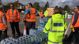 Bottled water is being handed out in Tenbury Wells