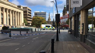 Part of Sheffield city centre remains sealed off after stabbings