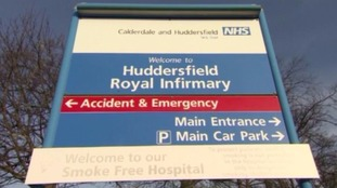 Huddersfield Royal Infirmary entrance sign