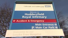 Huddersfield Royal Infirmary entrance sign