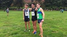 Great Cumbrian Run top three finishers.