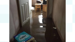 Flooding hit Millom on Saturday.