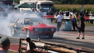 York Raceway dragstrip in use