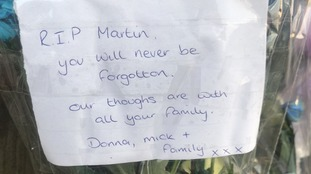 Tributes left on flowers in Halifax