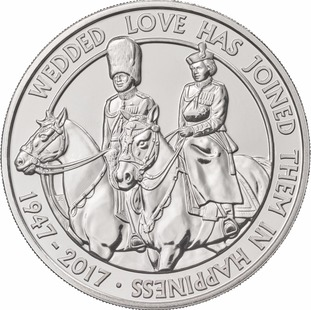 The new coin shows the pair's love of horses.