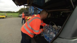Free bottled water is on offer again in the town centre this morning.