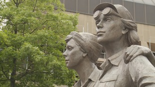 A Women of Steel statue was unveiled in Barker's Pool last year.