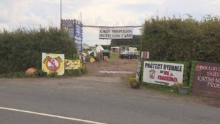 The 'protection camp' area in Kirby Misperton