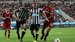 Newcastle took on Liverpool at St James' Park on Sunday