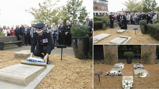 Memorial garden dedicated to North Yorkshire Police officers who have lost their lives in service