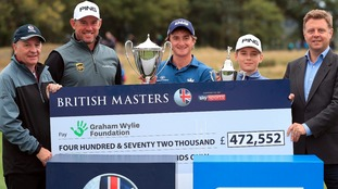 Cash boost of almost £500,000 for official charity of the British Masters