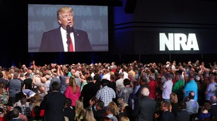 Donald Trump speaks to NRA members in 2017.