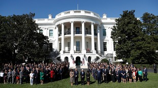 A minute's silence was held at the White House
