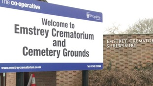 Emstrey Crematorium sign