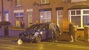 The aftermath of the crash in Bolton.