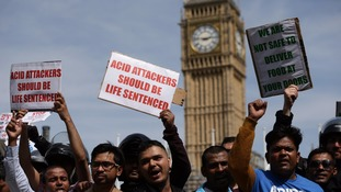 Britain has experienced a rapid rise in the number of acid attacks.