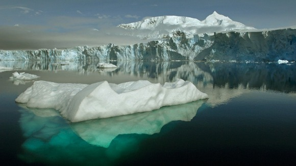 The Sheldon Glacier with Mount Barre, Antarctica