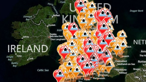 The live flood warning map