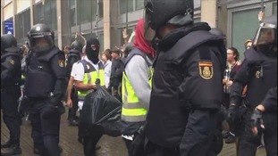 Violence broke out during the controversial referendum