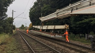 New track on its way to the site at Kelvedon