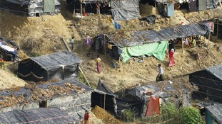The Rohingya are taking shelter in refugee camps in Bangladesh.