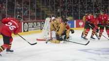Nottingham Panthers playing in a previous Champions Hockey League match