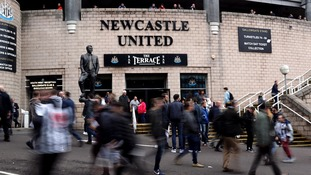 Newcastle United fans outside the ground before a game