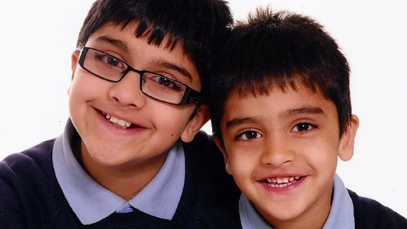 Adnan Habib, 10, and Arsalaan, four
