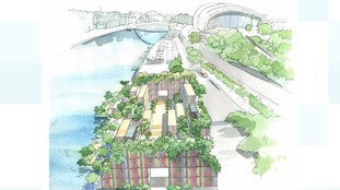 Plans for 'unique' urban garden on Gateshead Quayside