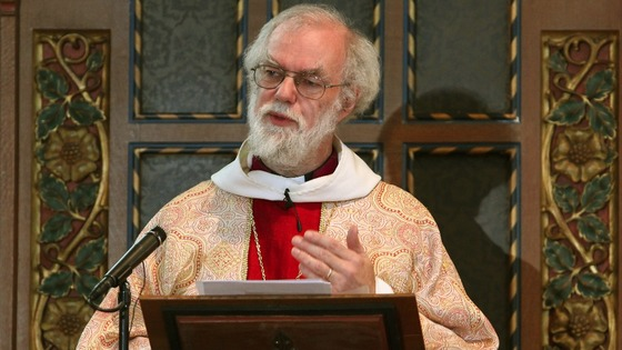 Dr Rowan Williams delivering his final Christmas day sermon as Archbishop of Canterbury