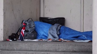The number of rough sleepers has risen sharply in past decade