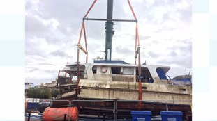Sunken boat removed from Bristol Harbour after two months