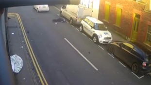 The driver fled the scene leaving the victim lying in the road