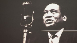 Robeson on stage at the 1958 National Eisteddfod
