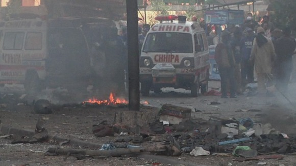At least six people were killed in the explosion