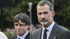 Carles Puigdemont and King Felipe IV