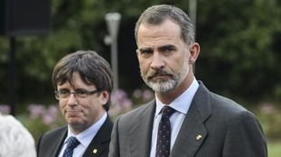 Carles Puigdemont and King Felipe IV