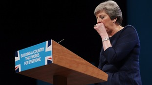 The PM suffered from a persistent cough during her speech.