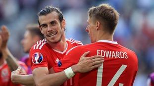 Gareth Bale (L) and David Edwards (R).