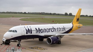 Grounded: Monarch Airlines went into administration on Monday.