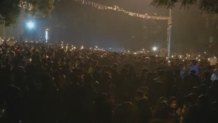 They also took part in a silent march through the New Delhi streets